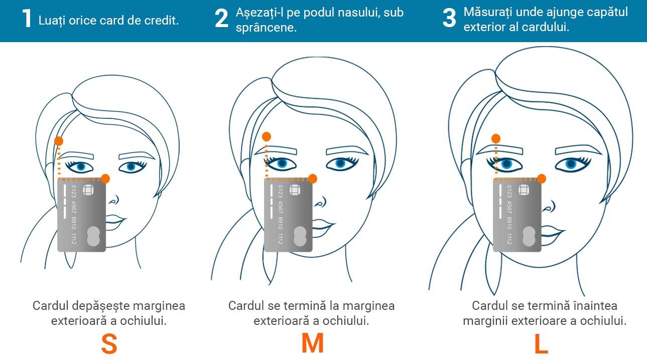 cum să citești măsurătorile ochelarilor de soare - Măsurați dimensiunea ochelarilor de soare cu un card de credit